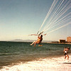 "Vicki Skinner (aka ""Vallarta Vicki"") Parasailing on her first trip to Puerto Vallarta, Mexico - around 1982-ish - with Terrye Hoffman, Jeff Hayne & Laurant Wolman"