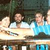 """Vicki Skinner at Los Balcones gay disco, Puerto Vallarta, Mexico - 1982<br /> <br /> Vicki Skinner (aka """"Vallarta Vicki"""") on her first trip to Puerto Vallarta, Mexico - around 1982-ish - with Terrye Hoffman, Jeff Hayne & Laurant Wolman"""