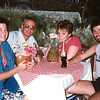 "Vicki Skinner (aka ""Vallarta Vicki"") on her first trip to Puerto Vallarta, Mexico - around 1982-ish - with Terrye Hoffman, Jeff Hayne & Laurant Wolman"