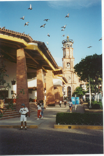 Puerto Vallarta, Mexico - City Hall with the church in the background