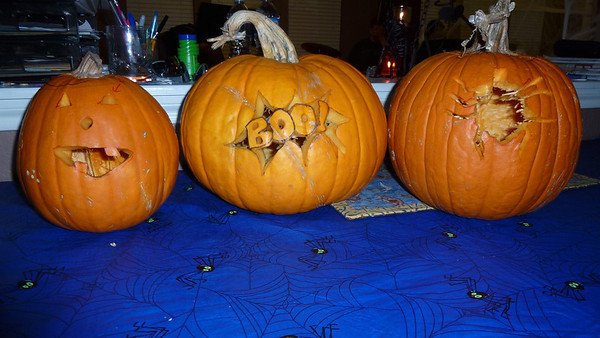 Matt, Diane and Ashley's pumpkins.