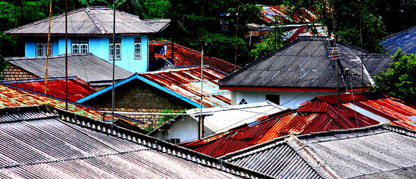 Roof textures in Puncak