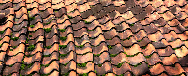 clay roof tiles in Puncak.