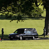Hearse carrying Senator Inouye's body (Honolulu Star Advertiser).