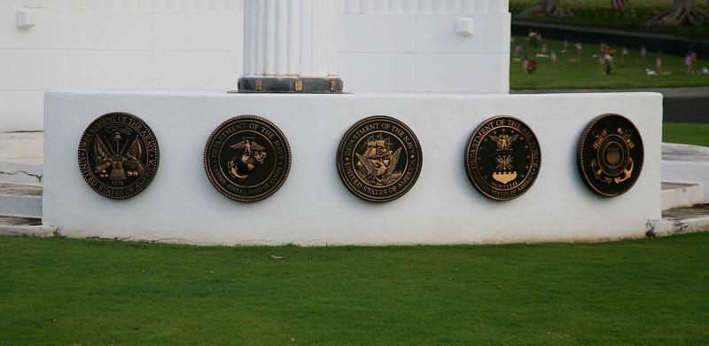Army, Marines, Navy, Air Force, Coast Guard.