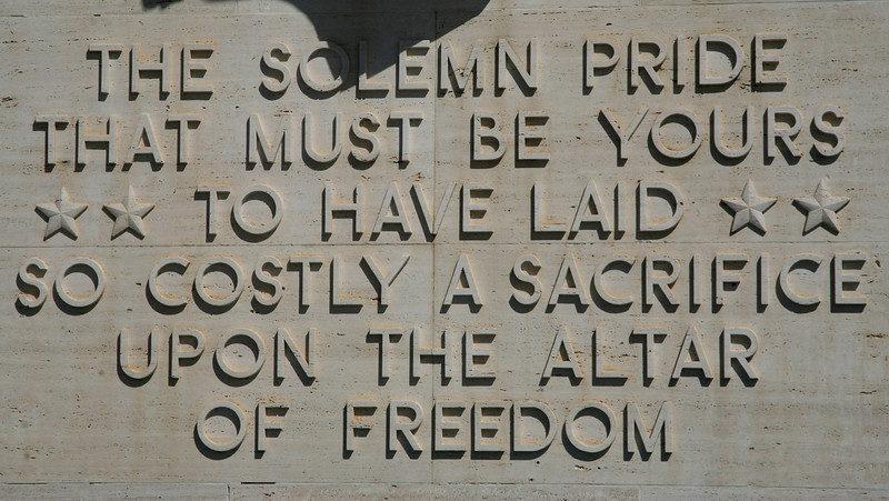 Abraham Lincoln's words.
