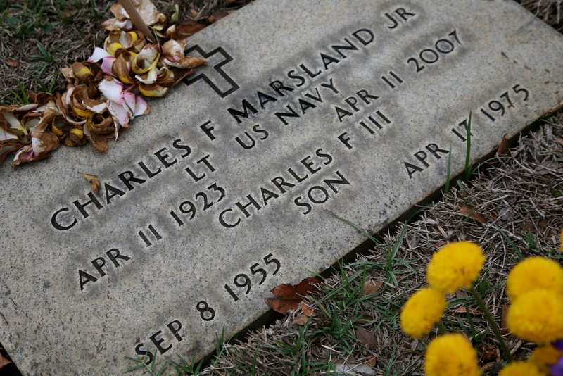 I visited his son's grave with Chuck in 1985.