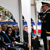 General Francis Wiercinski salutes Daniel Ken Inouye Jr., as President Obama looks on, at Senator Inouye's Punchbowl service on December 23, 2012. (REUTERS/Hugh Gentry).