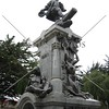 A monument at a town square in Punta Arenas, Chile.