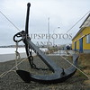 An anchor display at a port in Punta Arenas, Chile.