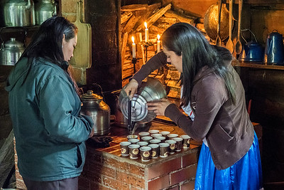 Women serving coffee