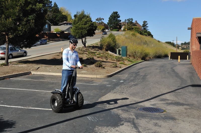 Ohad testing the offroad Segway
