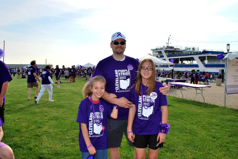 Diane's brother, Dave, and his two youngest girls, Samantha and Lauren
