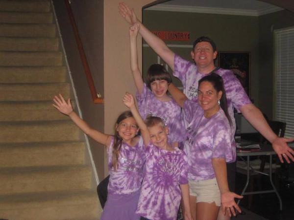 Diane's sister, Debbie, and her family (Jim, Andrew, Ashley and Matt).