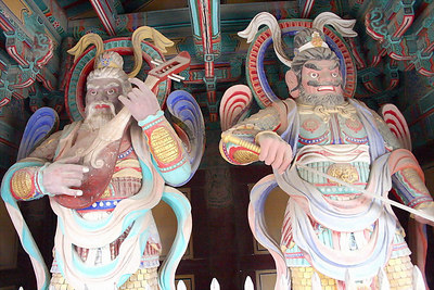 Warriors guarding the Bulguksa Temple.  These guys are like 12 feet tall