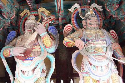 Warriors guarding the Bulguksa Temple.  These guys are like 12 feet tall
