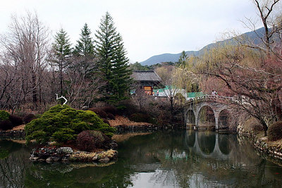 A park near the Bulguksa Temple