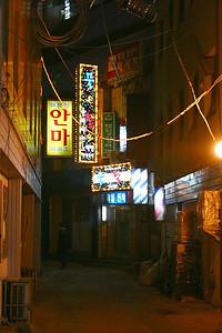 Random dark alleyway