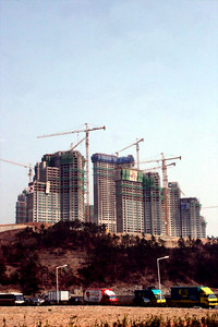 Some new construction going on in Pusan.