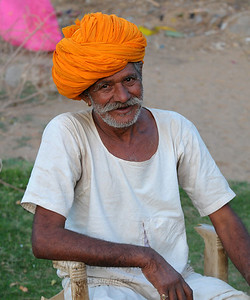 Sayar Singh's father, Pushkar, RJ. The town of Pushkar is located 14 km North West of Ajmer. Pushkar is one of the oldest cities of India. It  has in recent years become a popular destination for foreign tourists. Pushkar, Rajasthan, India.
