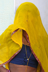 Women in pardha (veil). The town of Pushkar is located 14 km North West of Ajmer. Pushkar is one of the oldest cities of India. It  has in recent years become a popular destination for foreign tourists. Pushkar, Rajasthan, India.