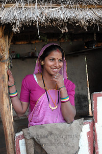 Sayar Singh's sister who was visiting her parent's home in Chamunda Matha Road, Pushkar.  The town of Pushkar is located 14 km North West of Ajmer. Pushkar is one of the oldest cities of India. It  has in recent years become a popular destination for foreign tourists. Pushkar, Rajasthan, India.