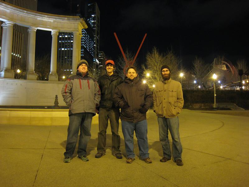 The Polimetrix boys (David Shoemaker, Christian Wyglendowski, Jamie Turner, Michael Schurter)