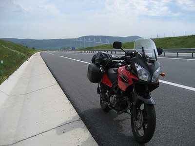 The famous and with good reason Millau bridge, breathtaking engineering, i had to go on this bit of motorway to go over the bridge which i really wanted to do!!!