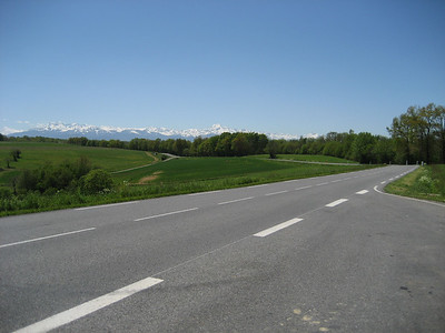 The Pyrenees in the distance