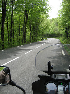 Another bad road !!! heading towards the Tarn Gorge