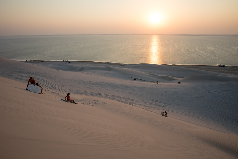 Poušť sandboarding Katar