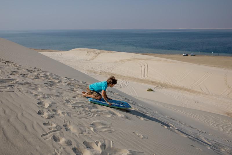 Martin Jaroš Katar duny sandboarding