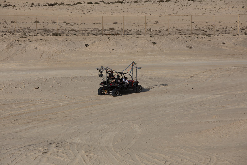 Qatar film shooting buggy desert