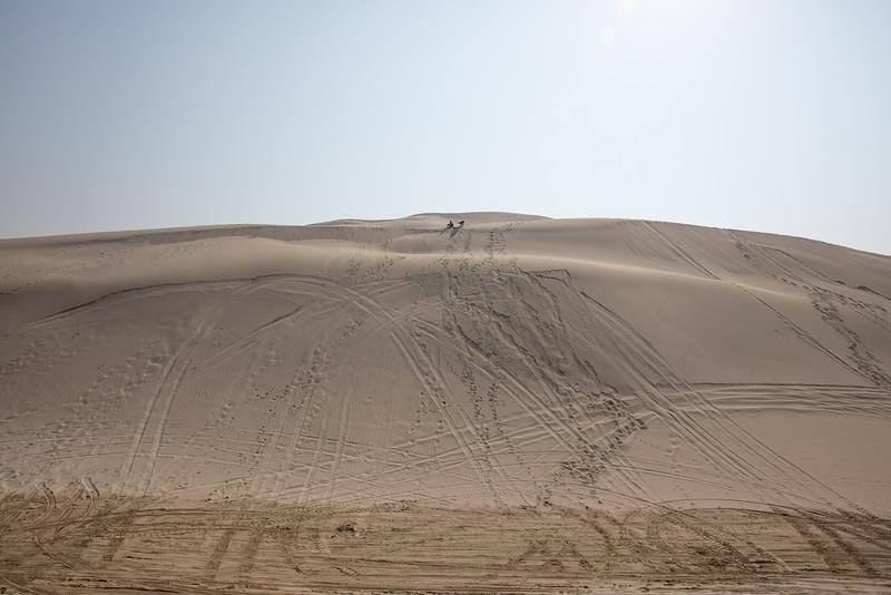 Desert Qatar Inland Sea sandboarding
