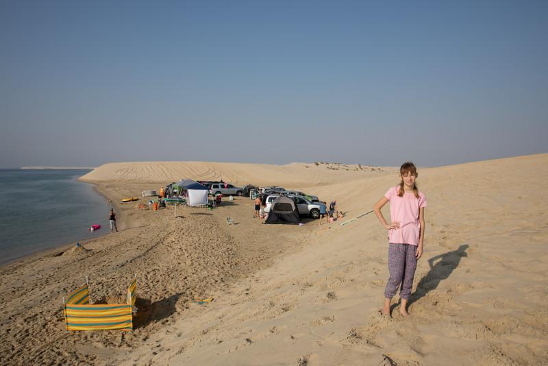 Kempování v poušti Katar Tímea Jarošová
