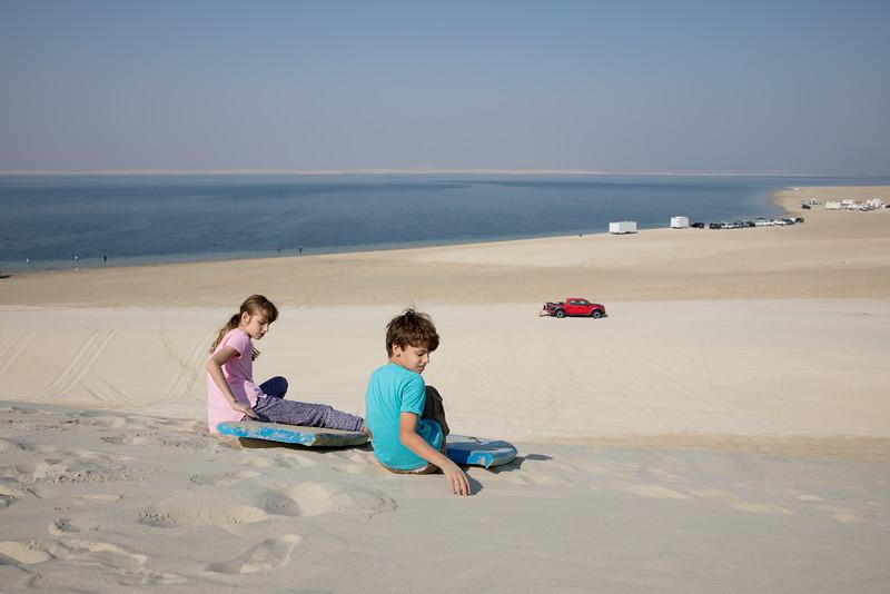 Duny Katar písek poušť