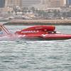 Unlimited Hydroplane U-5,Formulaboats.com, competes in 2009 Oryx Cup, Doha Bay, Qatar.