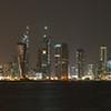 Doha night skyline.