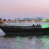 Dhow takes on passengers from the Doha Corniche.
