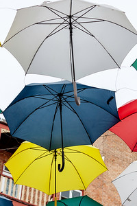 Umbrellas close-up