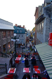 Le quartier du Petit Champlain, charmant, malgré un petit air de Disneyland.