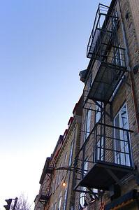 Escaliers extérieurs du quartier Petit Champlain