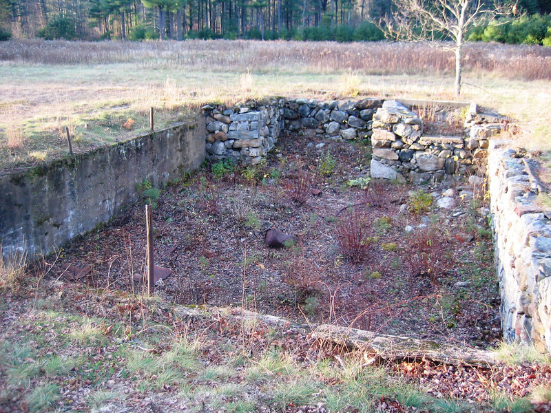 Former foundation of the school house