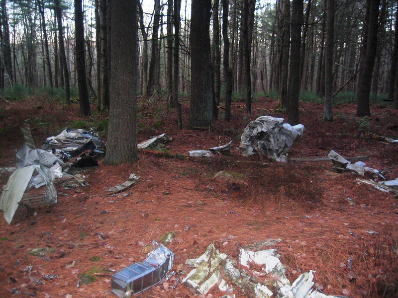 Plane crash site. This happened nearly 60 years ago