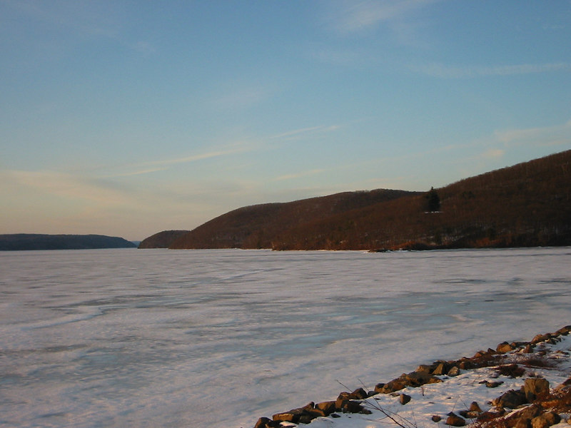 Quabbin Lake at sunset