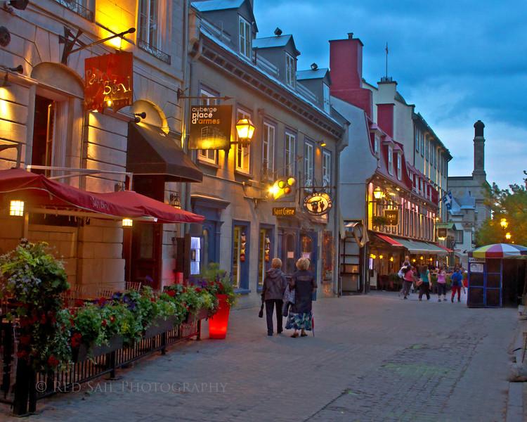 """""""Soir dans la ville de Quebec""""  (Evening in Quebec City)"""