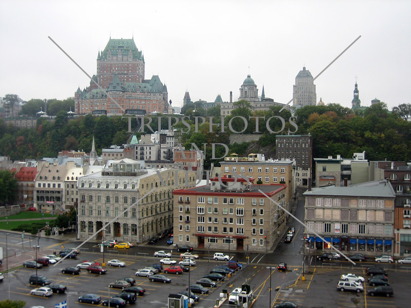 View from the cruise ship port  in Quebec, Canada.