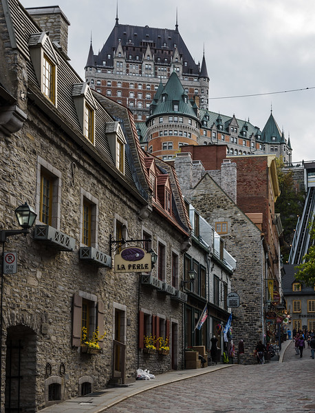 Chateau Frontenac dominates the vews from much of  the city.