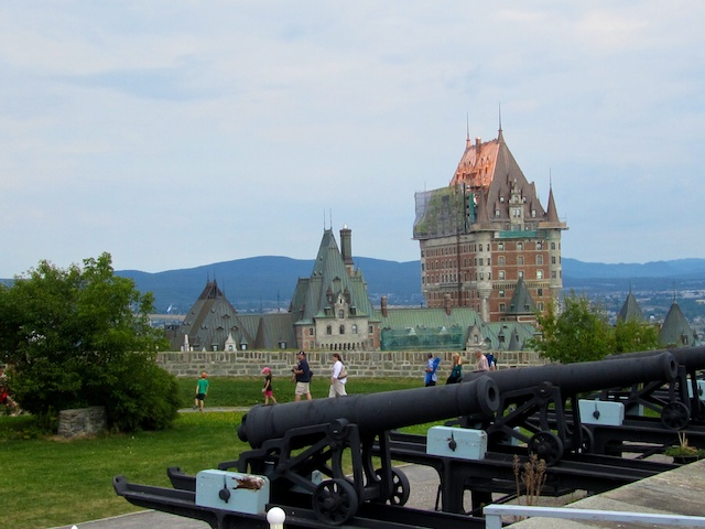 Chateau Frontenac from the Citadelle