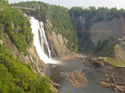 Montmorency Falls - 1.5 times the height of Niagra Falls